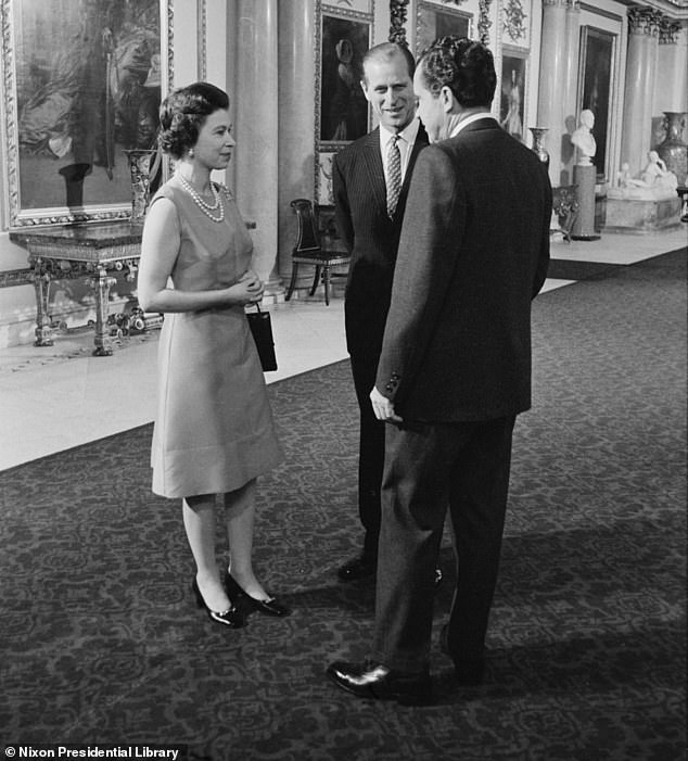 Philip attended the November 1969 stag dinner. Nixon, a longtime royal fan, met the Queen at Buckingham Palace on a trip to Europe earlier this year.