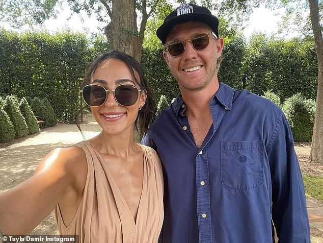 Sparking speculation:Love Island and WAG Tayla Damir has fuelled more speculation she's engaged to her AFL star beau Nathan Broad with a very telling birthday post