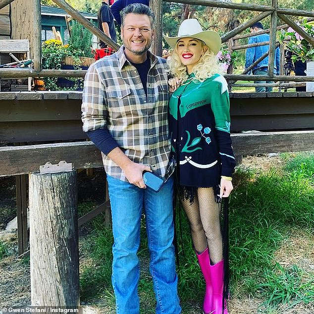 Engaged: Gwen announced her engagement to Blake in October 2020 on Instagram, where she posted a photo of herself flashing her brand new diamond ring whilst kissing her fiancé