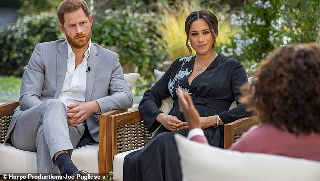 Backlash: Her comments come after Meghan and Harry spoke to Oprah last month in a bombshell interview in which she accused an anonymous member of the royal family of racism, while saying she was denied support after feeling suicidal.