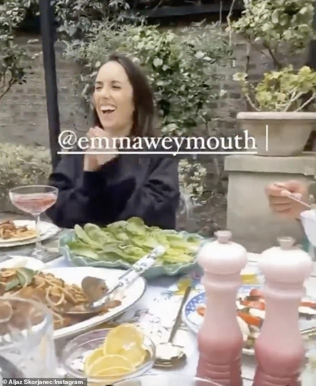 Tasty:Showing off their impressive spread, Aljaz panned his camera over an outdoor table piled with an enormous plate of Bolognese and vegetables