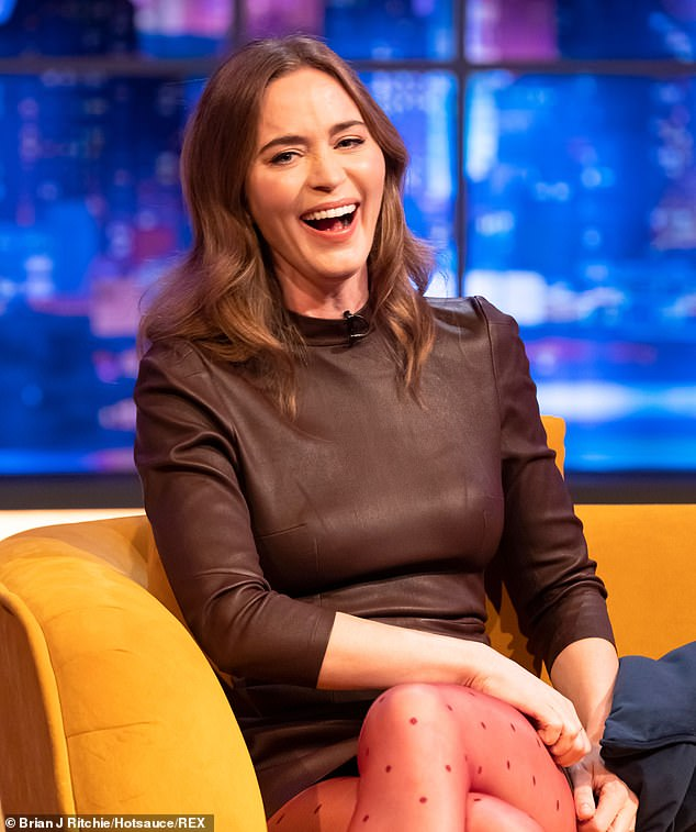 Hilarious:Emily Blunt has given details of her many celebrity pals - including Judi Dench, Cillian Murphy, The Rock and Millicent Simmonds