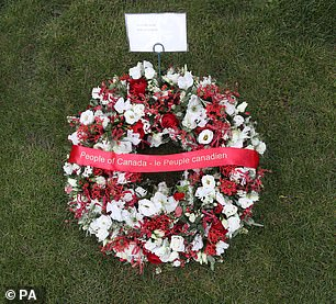 A wreath sent by the people of Canada