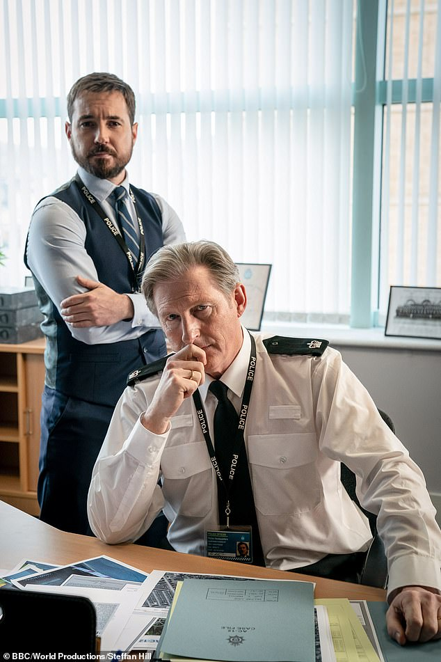 Icon: The Line of Duty star, 62, made sure to take inspiration from his beloved TV character Superintendent Ted Hastings as he spoke about Covid and easing restrictions through the United Kingdom.