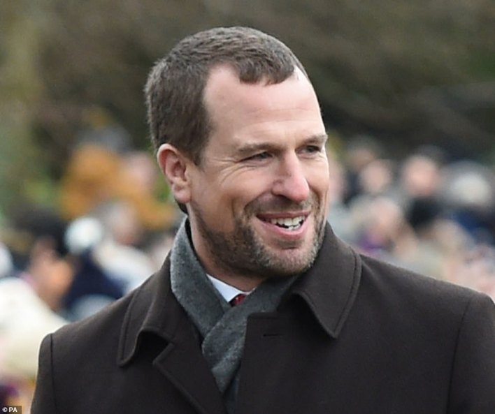 Between them will be Anne's son Peter, 43. Although he is older than William, he is not a direct heir to the throne