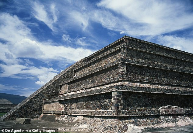 Tikal's structures appear to be part of a complex that was a near-replica of the Citadel, a complex in the rival city-state Teotihuacan.  In the photo: one of the pyramids of the citadel