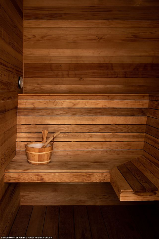 A nice play to sweat out toxins: And also located on the property is an all wood sauna, which is perfect after a swim