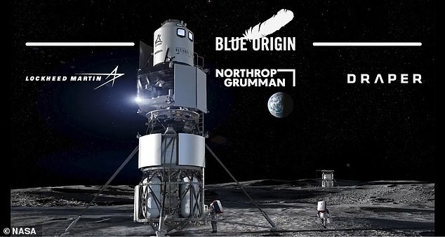 Blue Origin has been working on the moon landing system, known as Blue Moon, since 2017. The company had designed a mockup for a revised version that it planned to send to the moon.