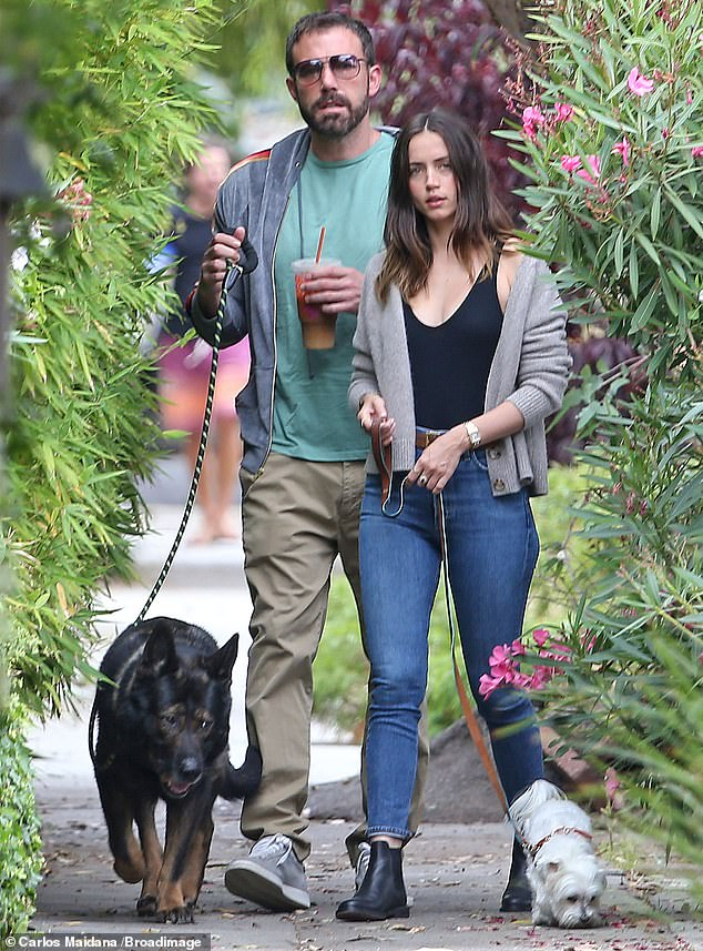 Are you moving on?  The outing comes just days after Affleck's 32-year-old ex-girlfriend Ana de Armas was spotted having coffee with a mysterious man.  Ben and Ana pictured in 2020