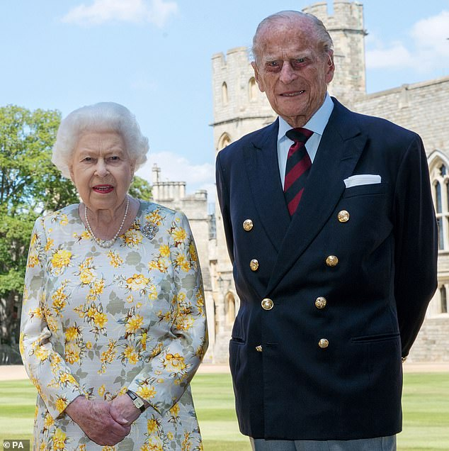 Honoured: The Duke Of Edinburgh's funeral is set to take place on SaturdayQueen Elizabeth II and the Duke of Edinburgh pose for a photograph in Windsor Castle in June 2020