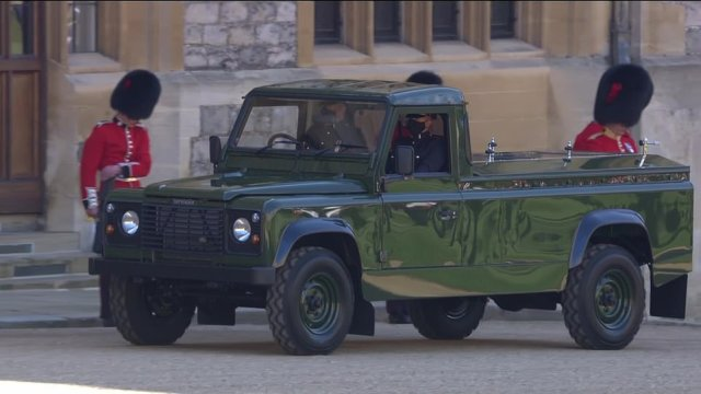 The Queen will follow her husband's coffin on his Land Rover hearse down from the castle to the chapel in her State Bentley