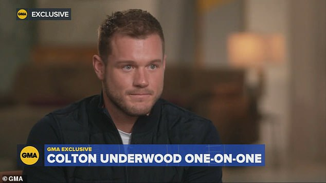 `` But I don't think Colton is trying to pursue this accusation of trying to be the spokesperson for the LGBTQ community.  Lance, 41, added.  Colton is seen here on GMA as he announced he was gay