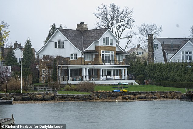 The back of the waterfront home in Old Greenwich, Connecticut. Ruth has not been seen