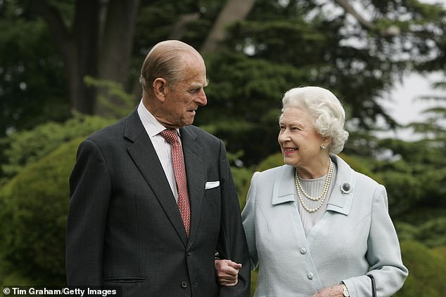 The Queen and Prince Philip are seen together in 2007 in a photo which marked their diamond wedding anniversary