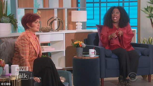 Comedian Sheryl Underwood and Sharon in that clash on The Talk last month.