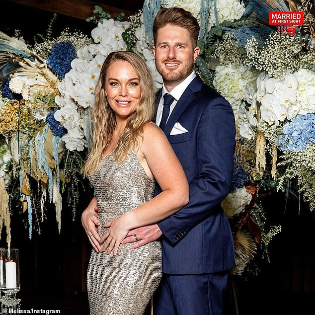 Wedding bells?Married At First Sight's controversial couple Bryce Ruthven (right) and Melissa Rawson (left) have hinted at marriage plans