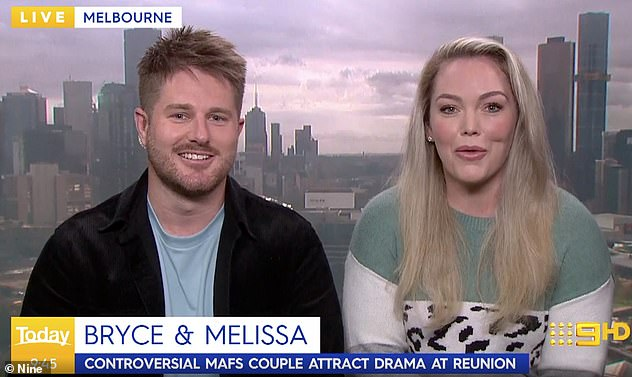Bryce said on Weekend Today: 'I've even seen a Sportsbet thing [suggesting that] we're getting married and that's something to get on'
