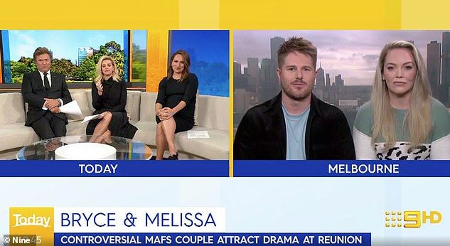 'I've completely tuned out':Melissa also revealed the couple are dealing with backlash by boycotting the finale and ignoring social media