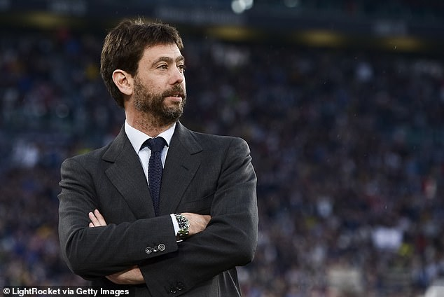 Juventus president Andrea Agnelli (above) is understood to have been instrumental in the plan