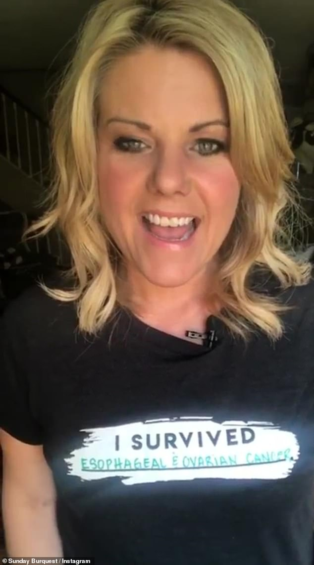'I do know that I have already survived cancer once and I will survive it again,' she said last year. 'That is why I'm wearing this shirt and saying right now I survived it'