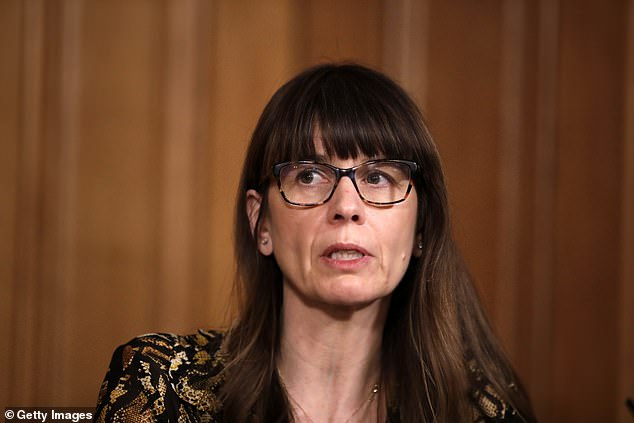 Dr Susan Hopkins (pictured), chief medical adviser for NHS Test and Trace, reassured that vaccines were a ¿primer¿ for the immune system and would help reduce hospitalisations and deaths