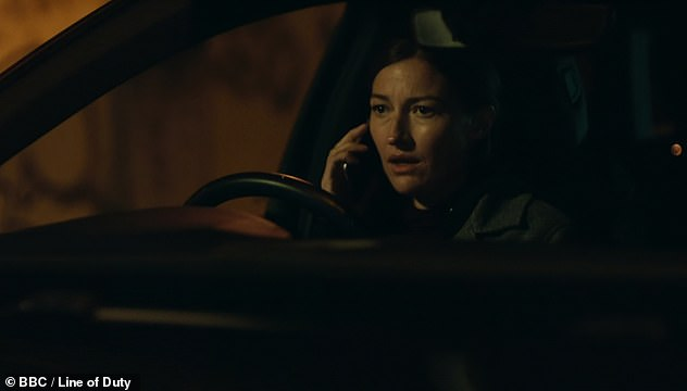 Drama: Sunday's show also saw a very tense ending after Davidson lured Kate to an isolated lorry park