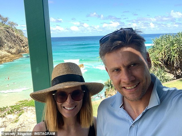 Newlyweds: The Queensland-based TV reporter tied the knot with her financial advisor beau in the sleepy town of Carool