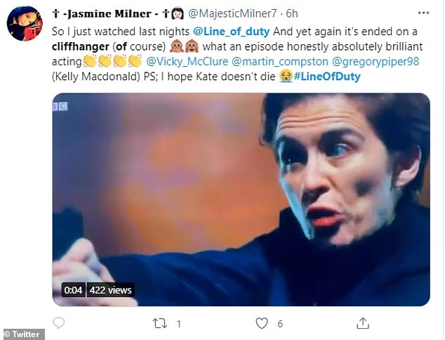 Nail-biting: Twitter was flooded with wild reaction from fans, who demanded bosses show the next episode now, as the suspense was too much to wait another week to see the outcome