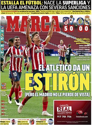 Marca focused on UEFA threatening severe sanctions to quell the emergence of a Super League
