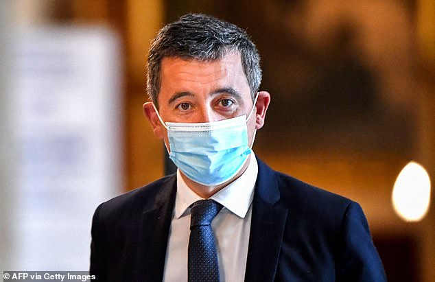 Interior Minister Gerald Darmanin (photo) said the courier, who lived illegally in France, was `` expelled from the country '' on Saturday after serving his four-month prison sentence.