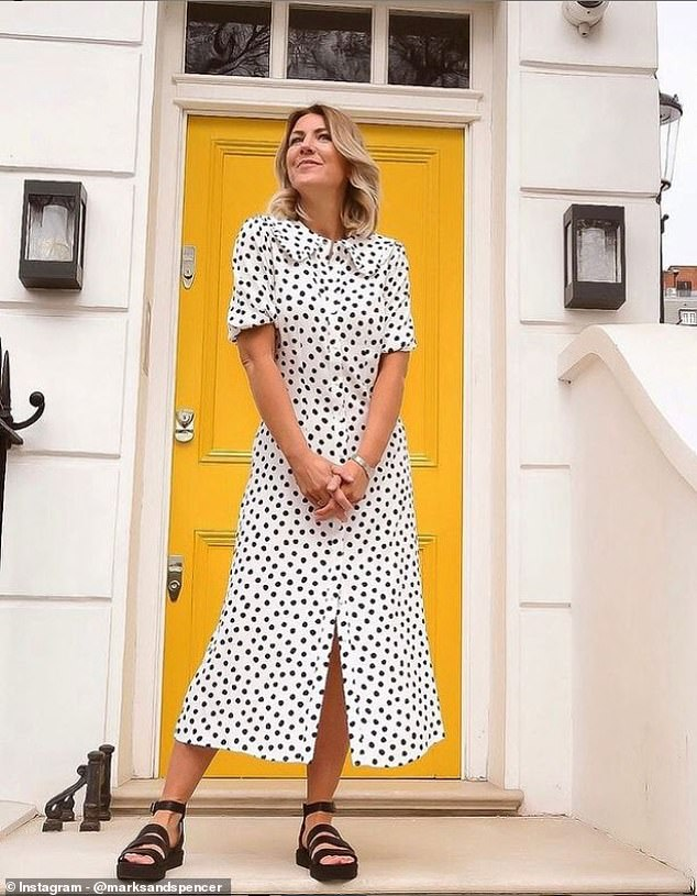 Marks and Spencer shoppers looking to update their post-lockdown wardrobes are swooning over a new black and white polka dot dress