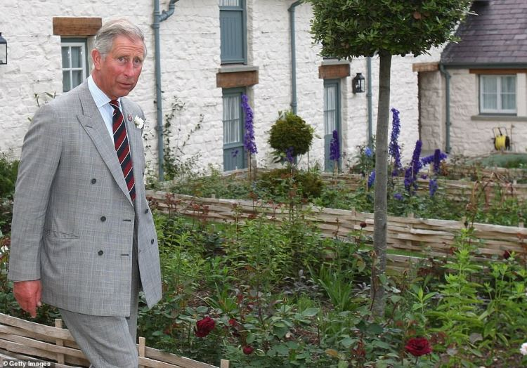 Prince Charles (pictured during a drinks reception at his £1.2million Welsh property in Llwynywermodin Llandovery in 2009) departed after a face-to-face meeting within the grounds of Windsor Castle with his two sons