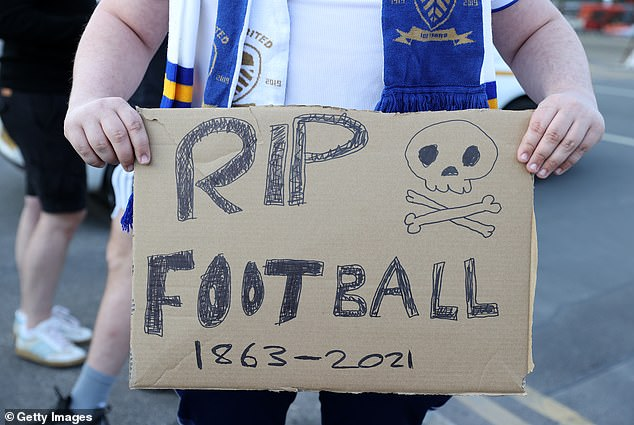 Protests continued at the Leeds versus Liverpool Premier League match on Monday evening
