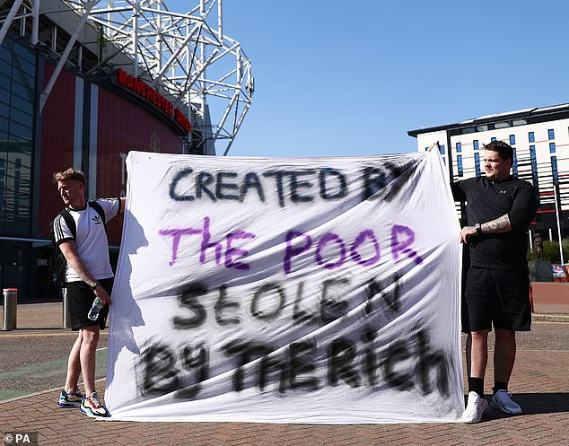 Fans have made their stance on the new league clear by protesting outside Old Trafford