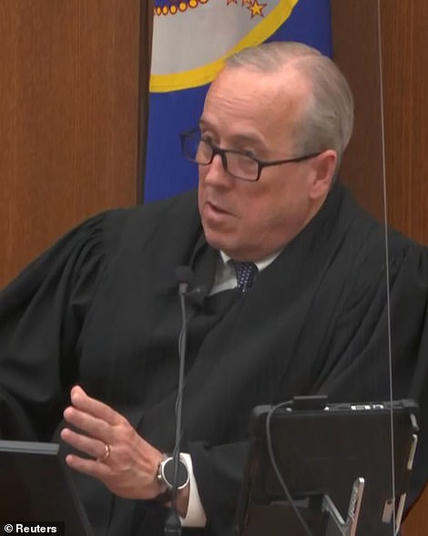 Judge Cahill (pictured) condemned Waters' remarks as 'abhorrent' before stating that he would not declare a mistrial