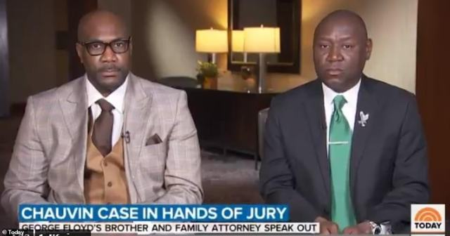 Floyd's brother Philonise (left) revealed President Biden called him on April 19 when the jury was sent out to deliberate in Chauvin's trial