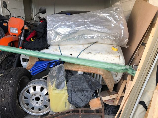 The car was previously hidden away underneath a pile of junk in a garage in Dorset. Its current owner bought it with the intention of restoring it but has not gotten around to it