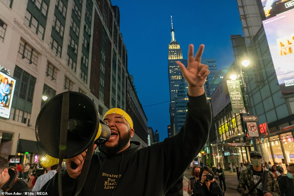 NEW YORK CITY: Demonstrators took to the streets of New York to demonstrate after the verdict came in on Tuesday evening