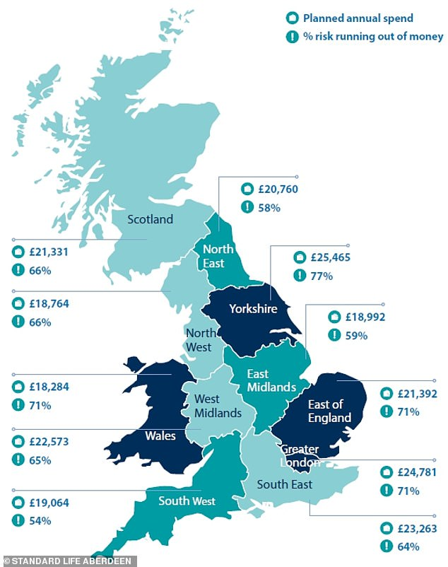 Will you run out of cash in retirement? Standard Life Aberdeen's pension pot risk map