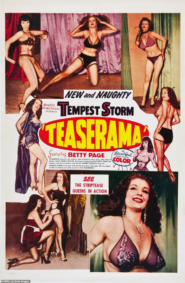 Storm (seen at the bottom right) is pictured in a Teaserama poster published in 1955