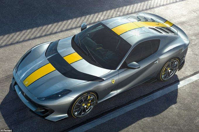 Powered by a naturally-aspirated V12 engine it unleashes 830 horsepower and promises 'a sensation of endless power and performance', says Ferrari
