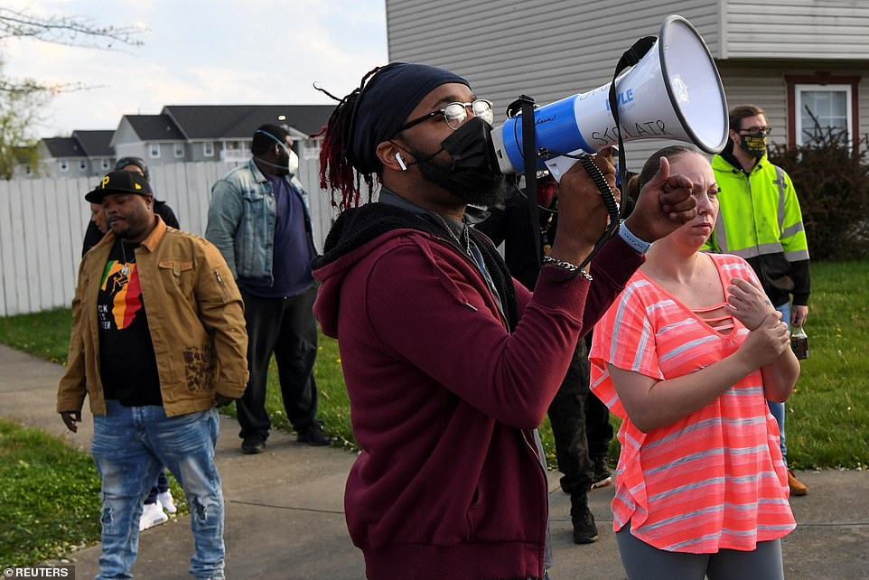 Protesters soon convened at the crime scene and called for action after witnesses described what led to the shooting