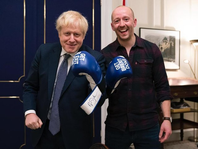 James Slack, then Boris's official spokesman, director of communications Lee Cain, pictured, (who came up with the West Wing briefing idea), and Helen Bower-Easton (now director of communications at the Foreign Office) made up the interview panel