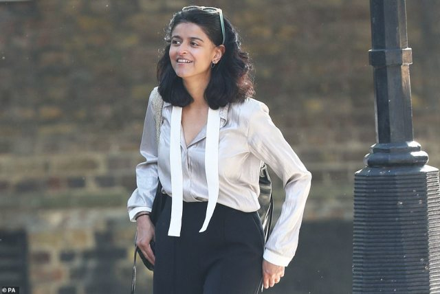 But what followed was a bitter power struggle behind the scenes as Cain and Dominic Cummings, then the PM's chief adviser, found themselves at odds with Stratton and a powerful coterie of supportive women, including Carrie Symmonds and Munira Mirza (pictured), head of the Downing Street policy unit