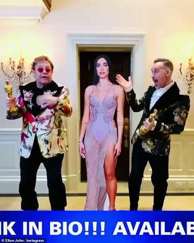 Star-studded:Revealing what was on on offer to fans, Elton explained it would be hosted by Neil Patrick Harris and would include a stripped back performance from Dua Lipa