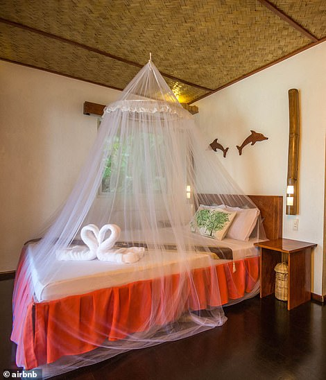 In total there are eight lodges nestled amid lush foliage, with natural materials used throughout, from bamboo to hardwoods