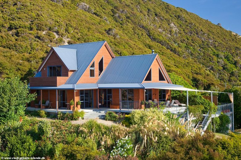 In terms of accommodation, there is a three-bedroom lodge (pictured) serving up wonderful panoramic views
