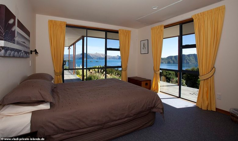 This island serves as an ideal base for outdoor types, with hiking, fishing trips, dolphin watching tours, kayaking, and more on the menu. Above, views from one of the lodge's bedrooms Above, views from one of the lodge's bedrooms