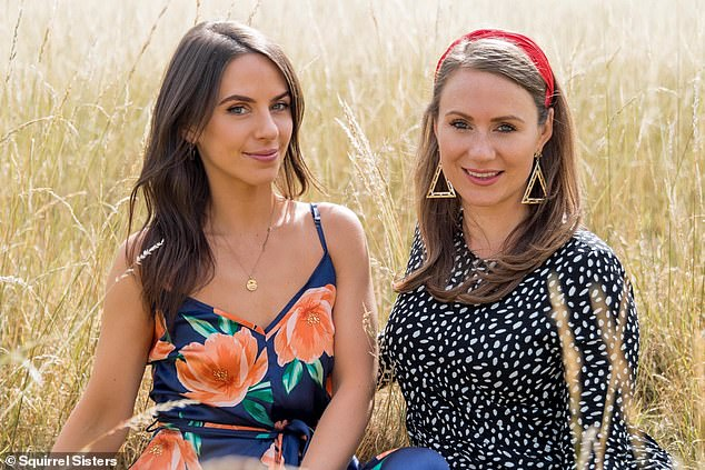 Gracie Tyrrell (left) and Sophie Tyrrell are sisters and business partners in the Squirrel Sisters no added sugar snack brand