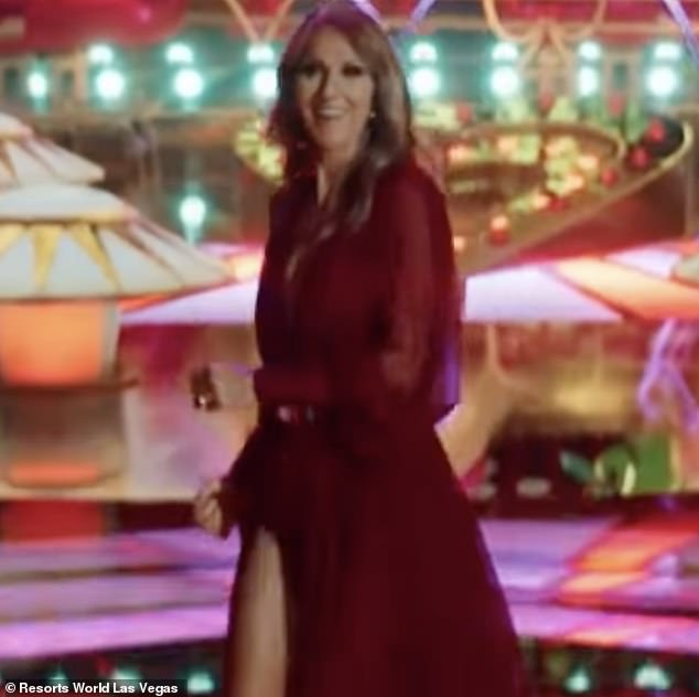 Sensation:But the piece de resistance of the commercial came when Las Vegas icon Celine Dion herself appeared on the screen
